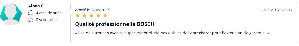 Avis utilisateur pack outils Bosch
