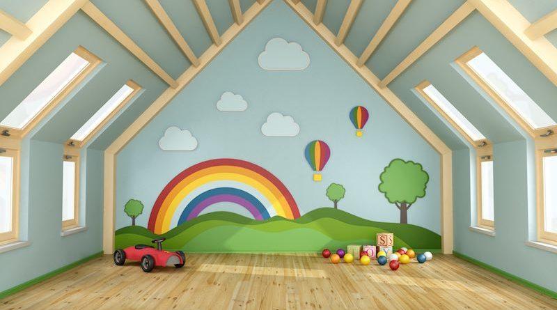 Aménagement des combles : créer une salle de jeux pour enfants et ...