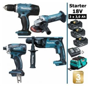 pack 4 outils makita