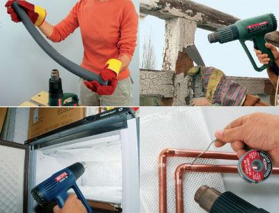 Utilisation d'un décapeur thermique sur différents matériaux