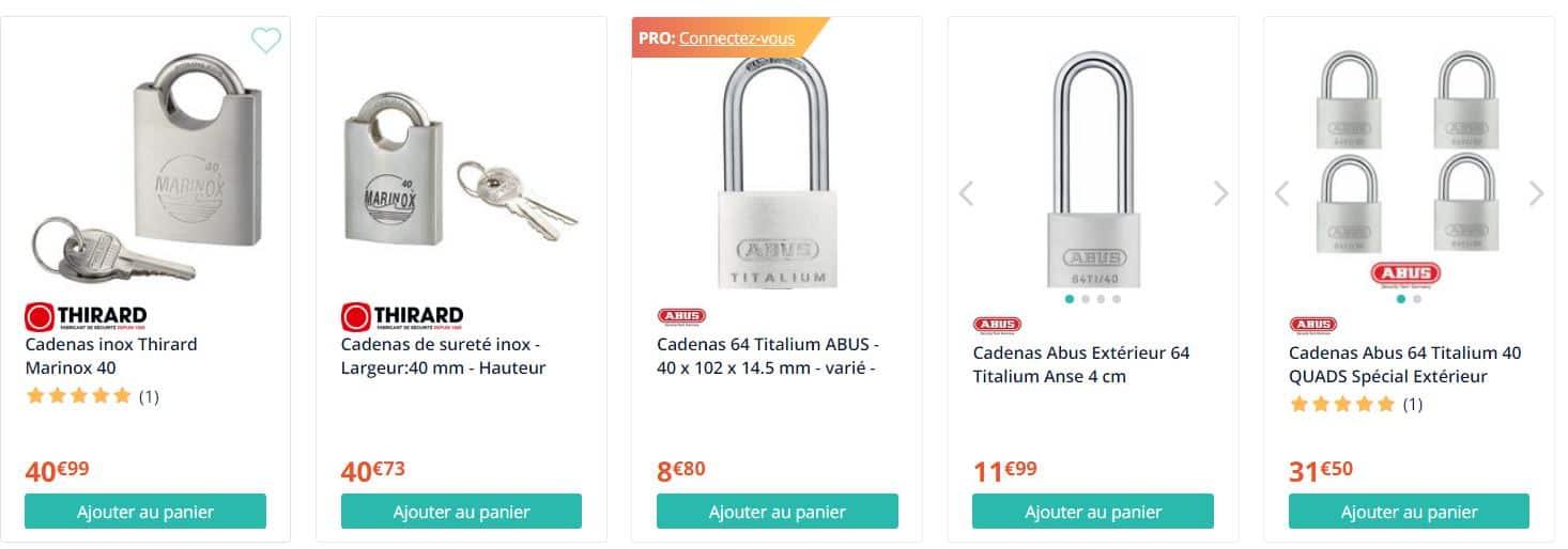 Cadenas Abus 64 Titalium 40 QUADS Sp/écial Ext/érieur